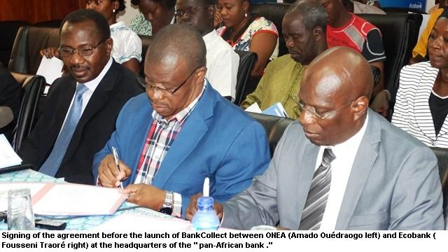 Burkina-Faso National Agency for Water and Sanitation (ONEA) partners with Ecobank to Launch Parkway Project's BankCollect Solution